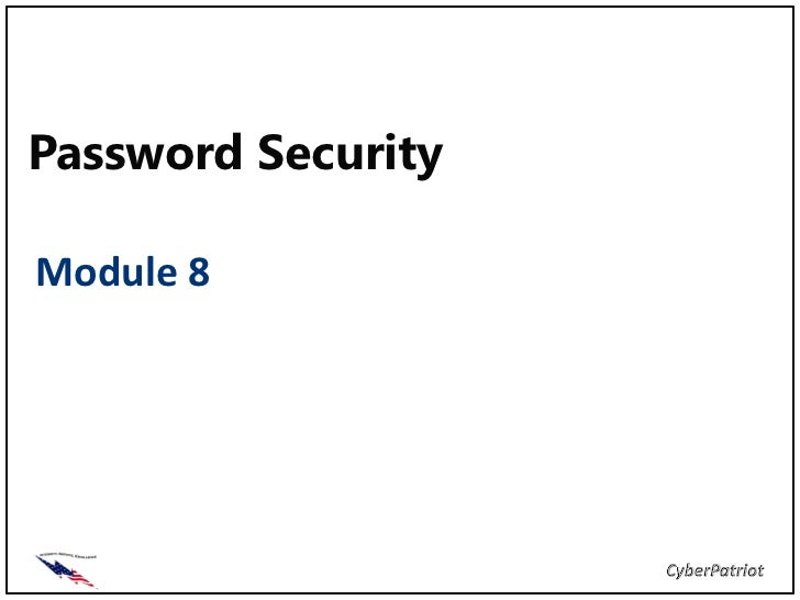 Password SecurityModule 8