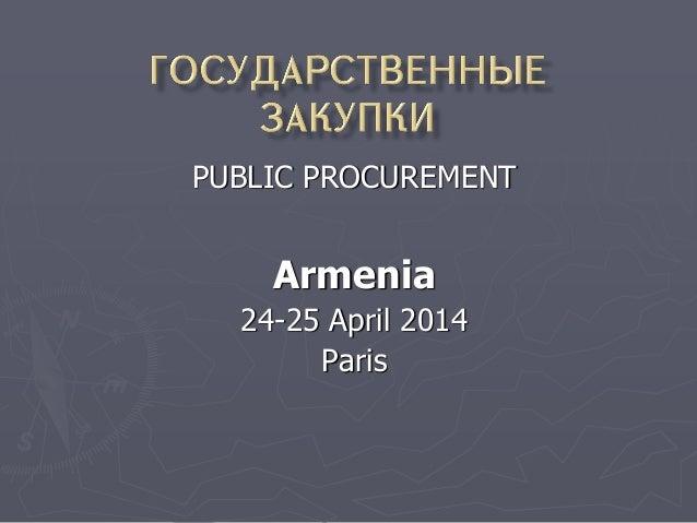 8 Public Procurement policy Armenia_English