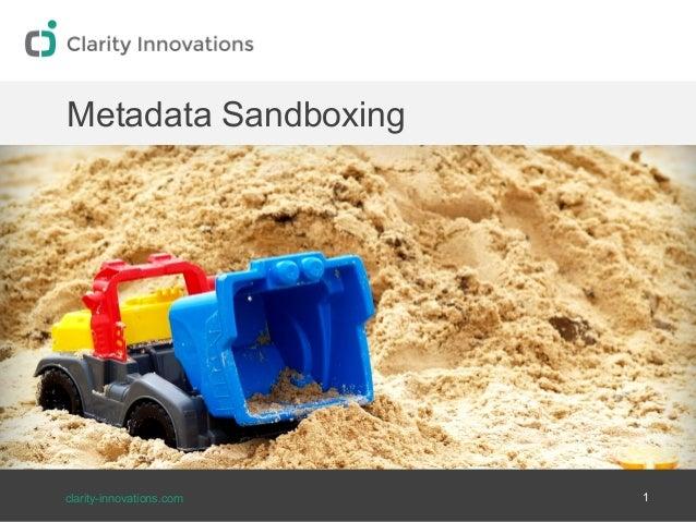 Metadata Sandboxing | Education Metadata Meetup
