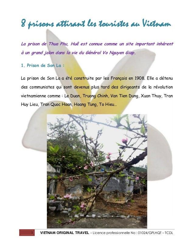 1 VIETNAM ORIGINAL TRAVEL – Licence professionnelle No : 01024/GPLHQT – TCDL 8 prisons attirant les touristes au Vietnam L...