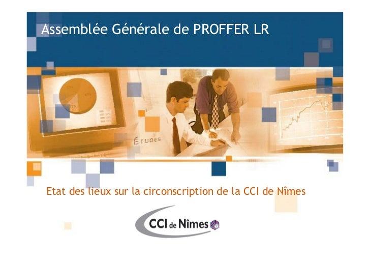 Assemblée Générale de PROFFER LR     Etat des lieux sur la circonscription de la CCI de Nîmes