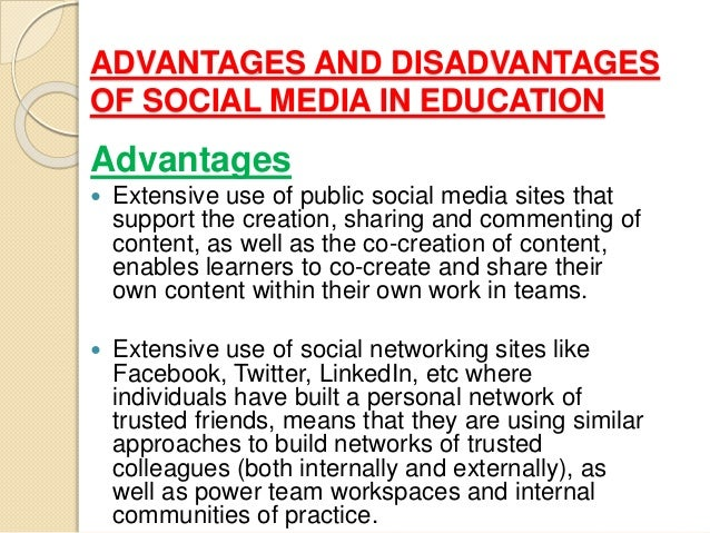 advantages and disadvantages of media on What are the advantages and disadvantages of social mediahow might knowing these advantages and disadvantages alter how a person might use social mediaone advantage of social media is.