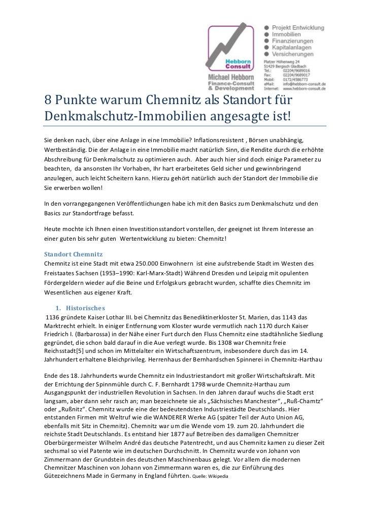 8PunktewarumChemnitzalsStandortfürDenkmalschutz‐Immobilienangesagteist!Siedenkennach,übereineAnlageinein...