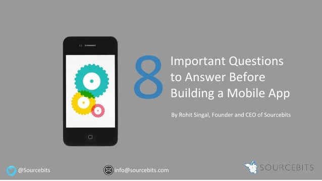 8 Important Questions You Need to Answer Before Building a Mobile App