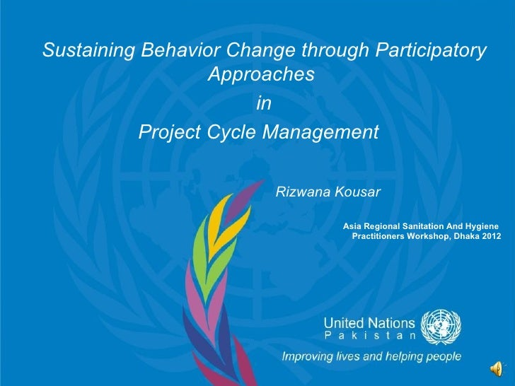 Sustaining Behavior Change through Participatory                   Approaches                        in           Project ...