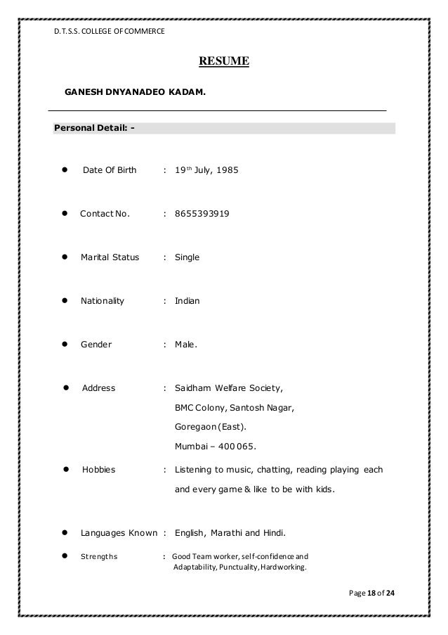 standard biodata format for marriage