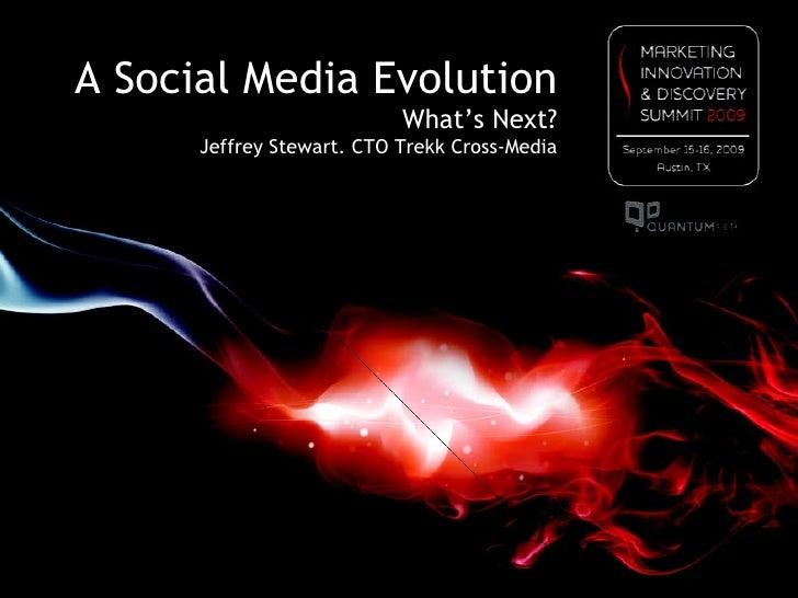Social Media Evolution - Jeffrey Stewart - 2009 Marketing Innovation & Discovery Summit