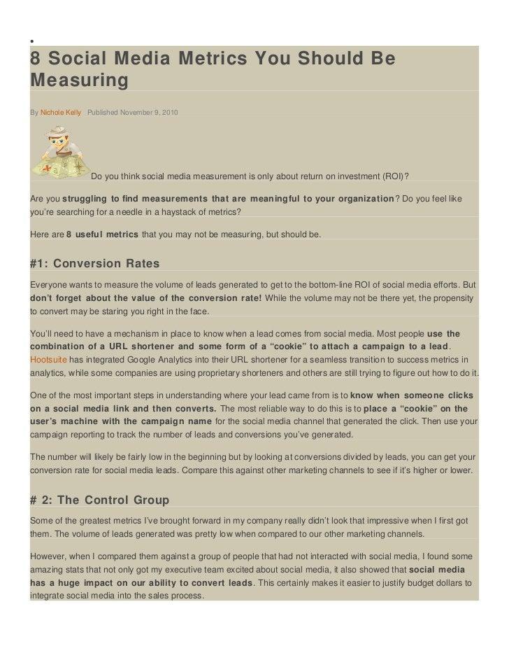 8 social media metrics you should be measuring