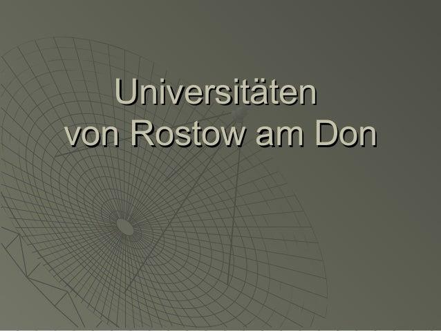 Universitäten von Rostow am Don