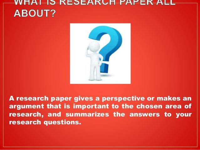 in making paper research steps