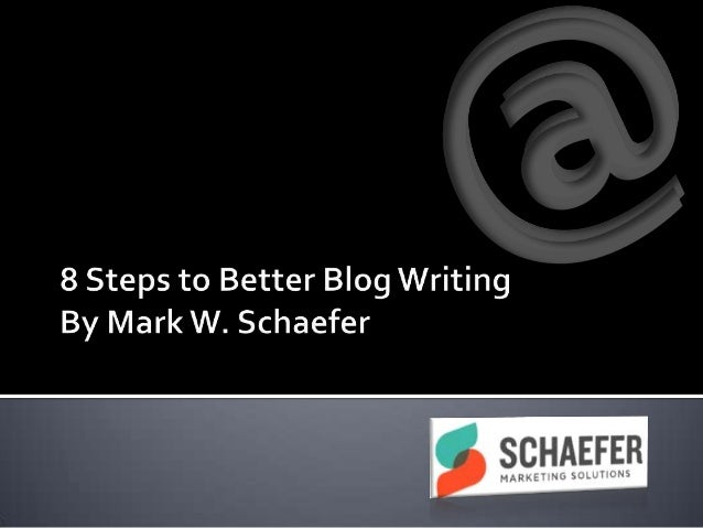 8 steps to better blog writing