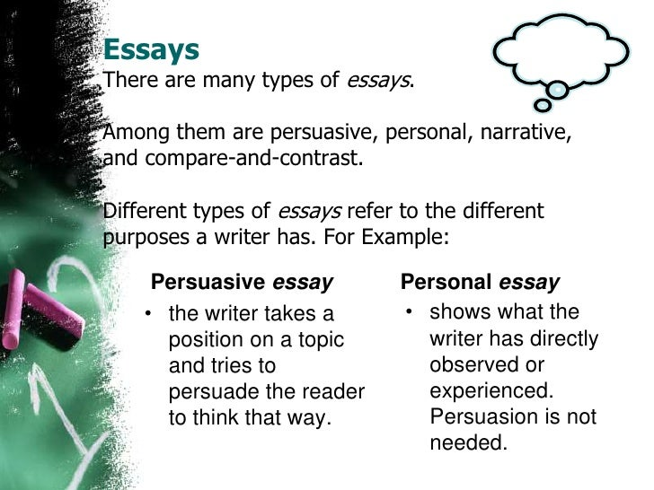 compare and contrast essay in third person