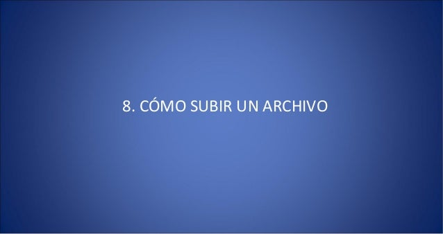 8 subir archivo