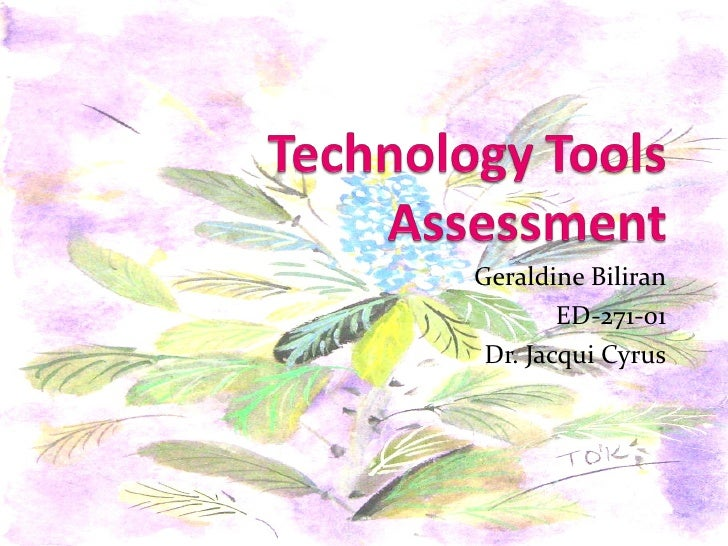 ED-271 Technology Tools Assessment