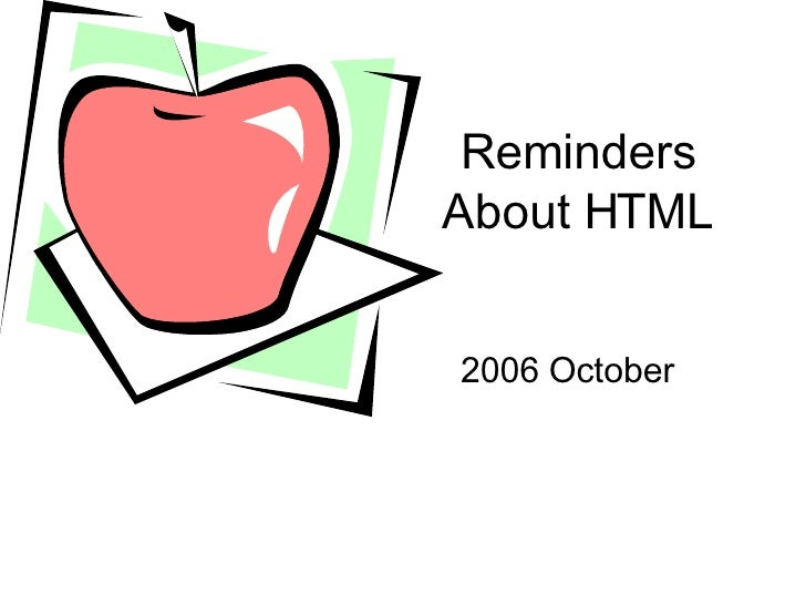 8th Grade Html Review