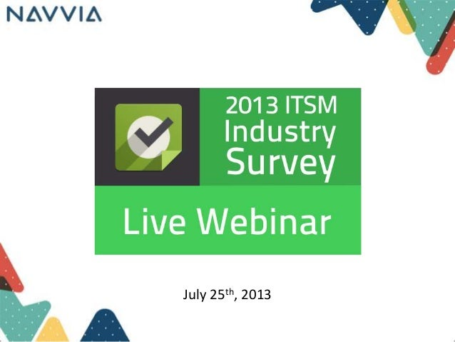 8th annual ITSM Industry Survey Results