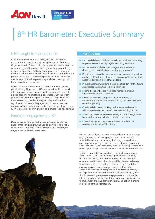 Aon Hewitt 8th European HR Barometer - executive summary