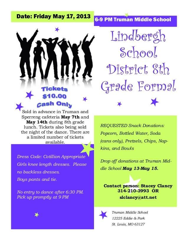 8th grade formal flyer