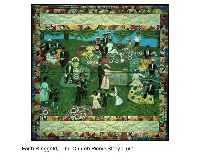 Faith Ringgold,  The Church Picnic Story Quilt