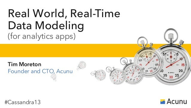 #Cassandra13Real World, Real-TimeData Modeling(for analytics apps)Tim MoretonFounder and CTO, Acunu