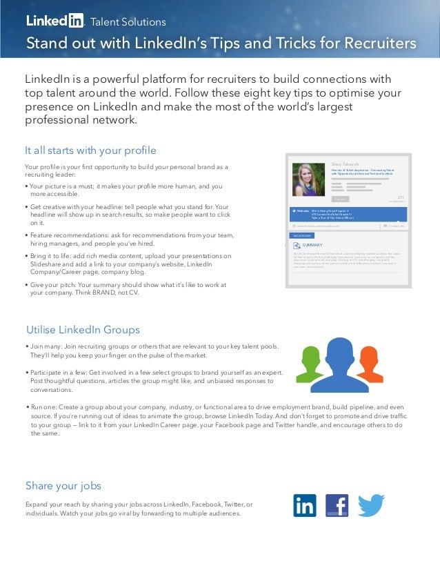 8 tips for recruiters on LinkedIn