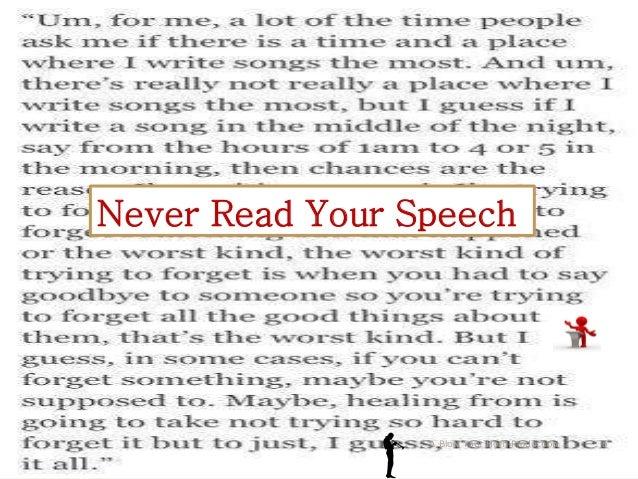 Make speech