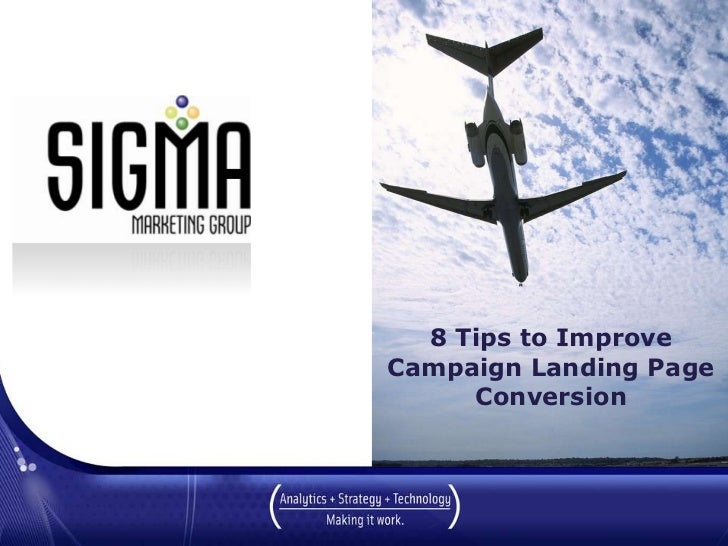 Improve Campaign Landing Page Conversions - 8 Tips