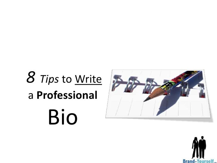 how to write a professional bio