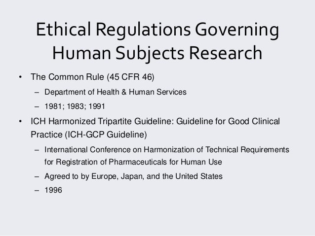 ethical guidelines for biomedical research on human subjects