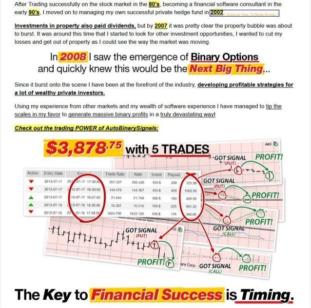 Successful option trading strategies