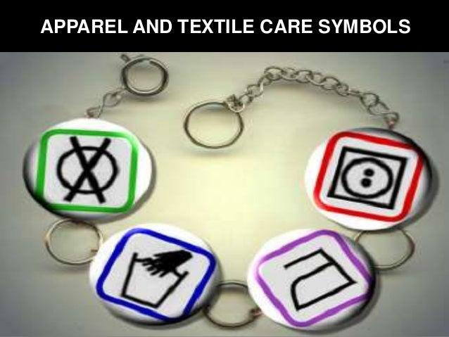 APPAREL AND TEXTILE CARE SYMBOLS