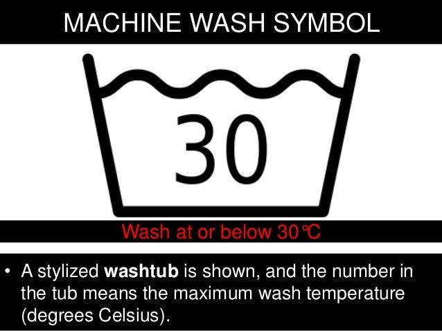 machine wash symbols