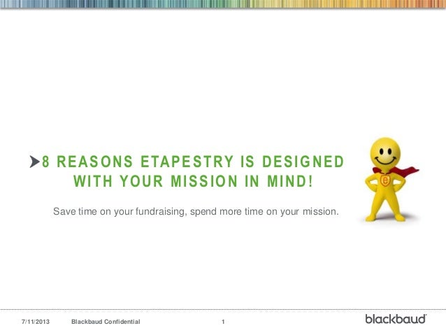 8 Ways eTapestry is Designed for your Mission