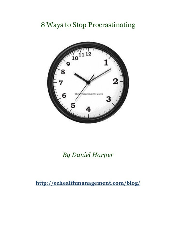 8 ways to stop procrastinating