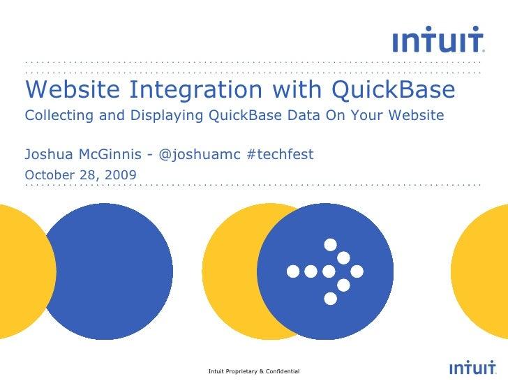 Website Integration with QuickBase - Joshua McGinnis