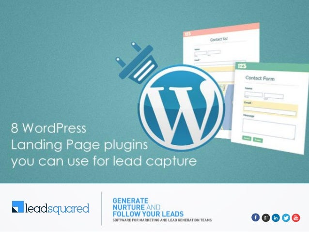 Create a landing page 2 Form Plugins