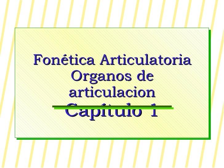 Fonética Articulatoria Organos de articulacion Capítulo 1