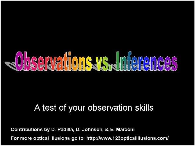 Observations v Inference