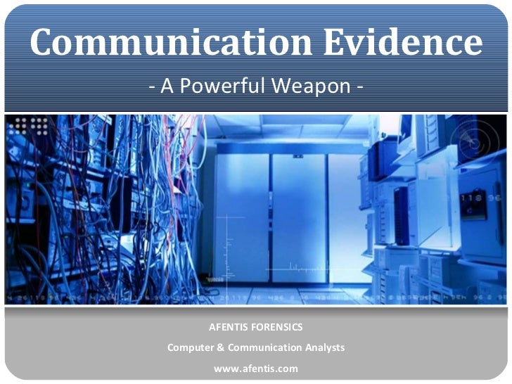 Mobile Telephone & Communication Evidence