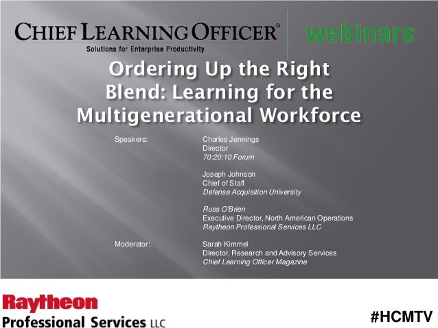 Ordering Up the Right Blend: Learning for the Multigenerational Workforce
