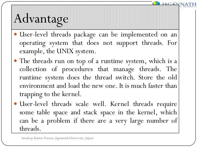 Hybrid Level Threads User-level Threads Package