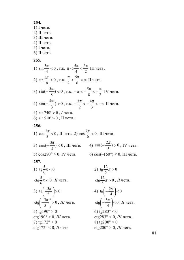 Алгебре решебник по проверь кл себя 11