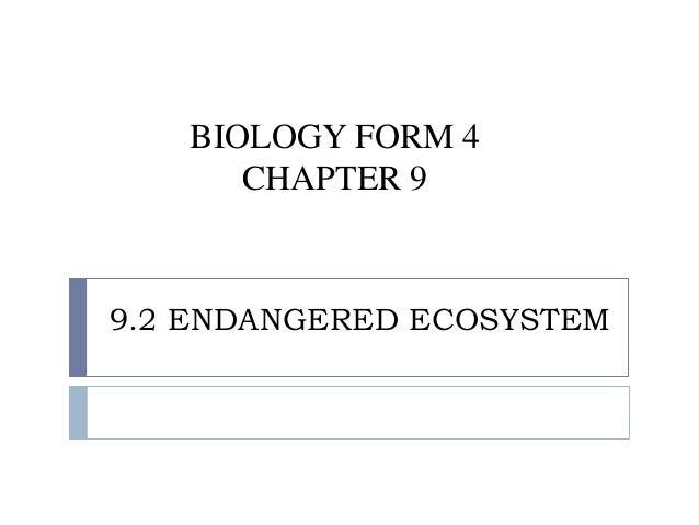 Folio biology form 4 chapter 9 endangered ecosystem