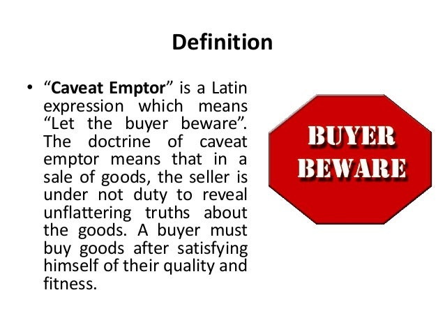 Buyer Beware Property Law