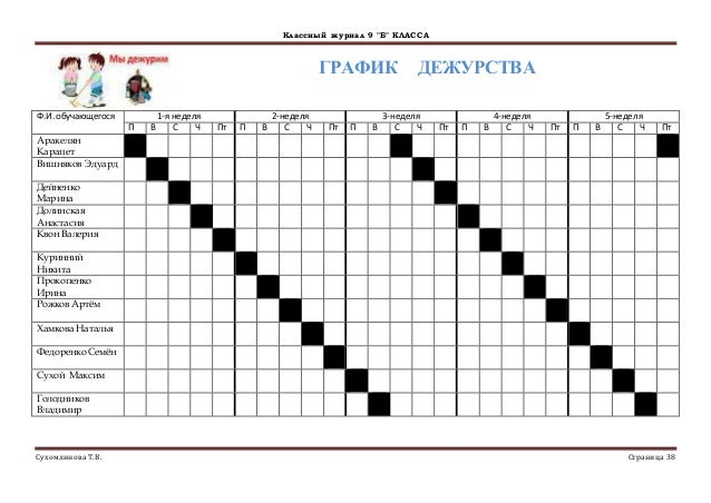 график дежурства в подъезде образец - фото 7
