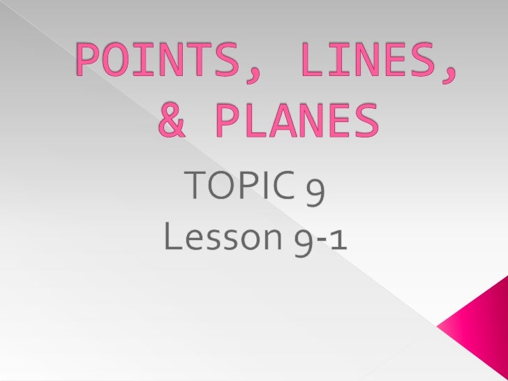 9 1 Points, Lines, And Planes