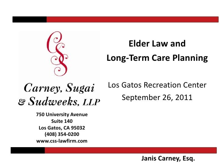 Elder Law and Long-Term Care Planning