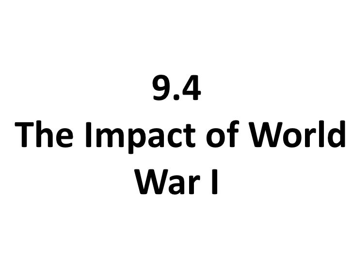 9.4 The Impact of World War I<br />