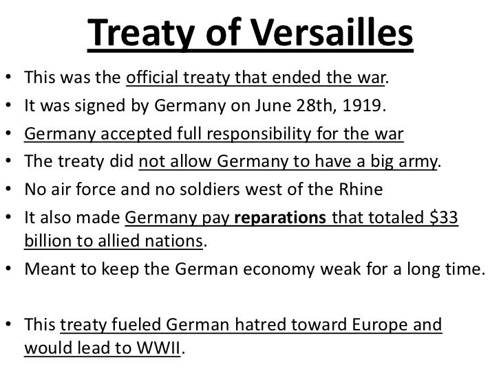the consequences of the treaty of versailles for the german economy and politics The german politicians this was partly because american politics were this site provides an outline of the consequences of the treaty of versailles.