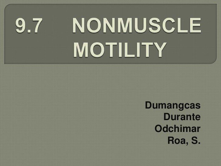 nonmuscle motility